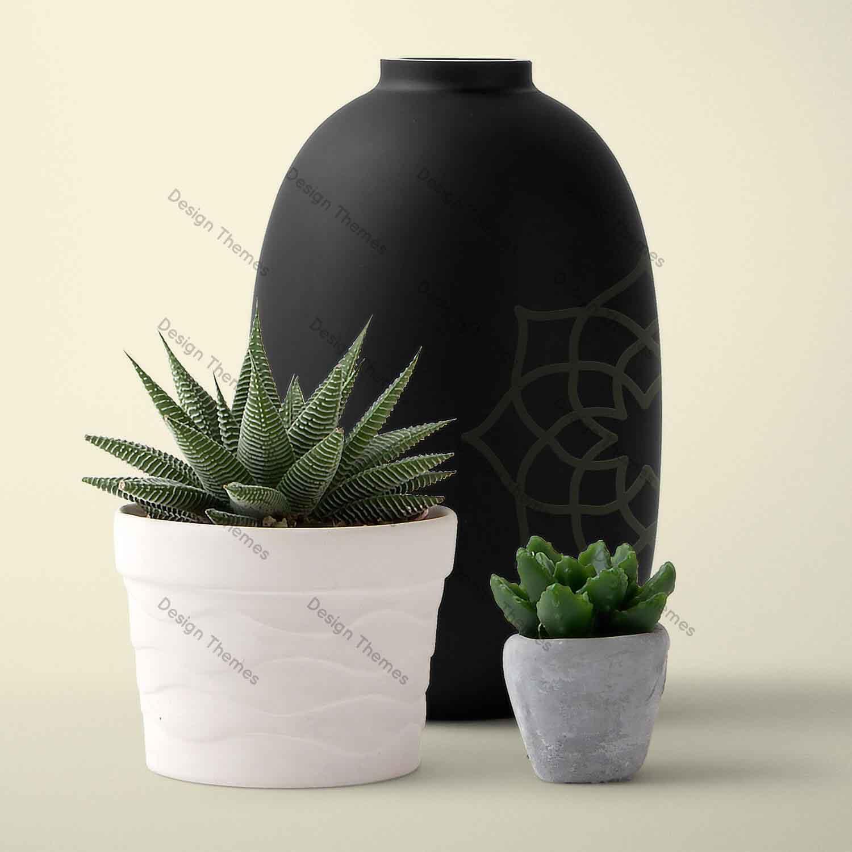 yoga black vase
